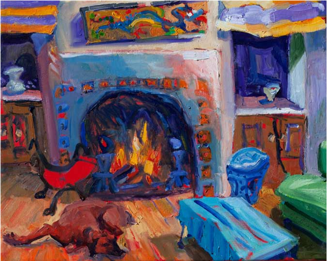 Living Room, 16x20, Oil on Canvas, Sold