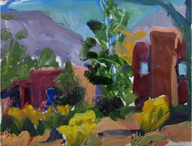 Backyard,  6x9, Oil on Paper, $300