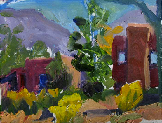 Backyard,  6x9, Oil on Paper, $300.png