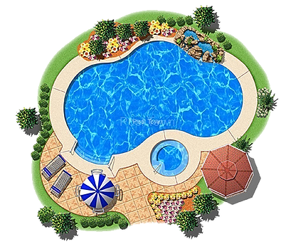 to begin the pool design process with creative pools a professional designer will visit your property to discuss the vision you have for your pool