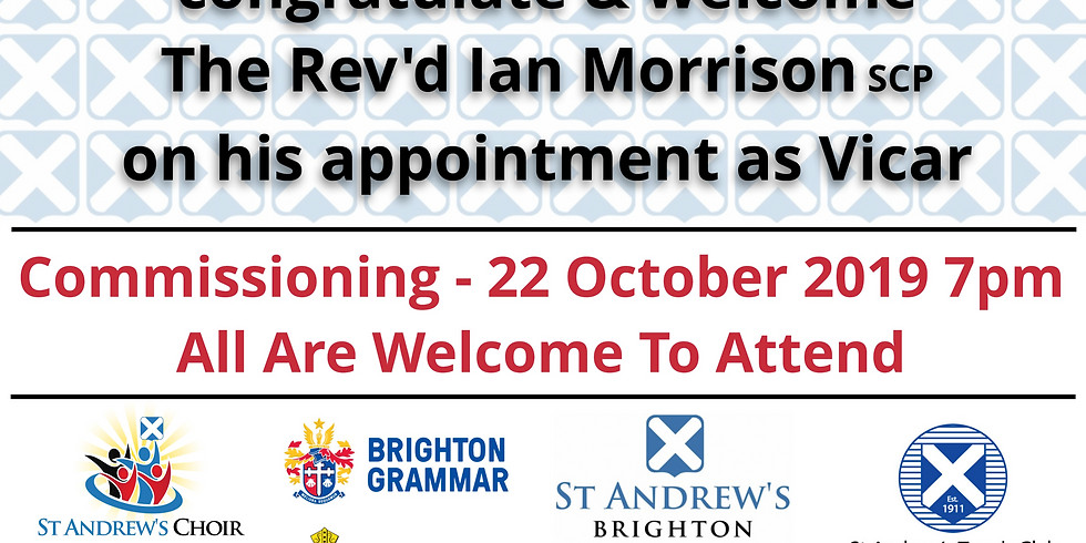 Commissioning of The Rev'd Ian Morrision