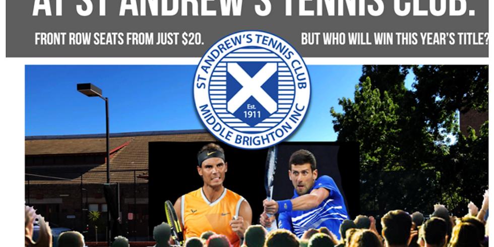St Andrew's Tennis Club - Men's Open Final