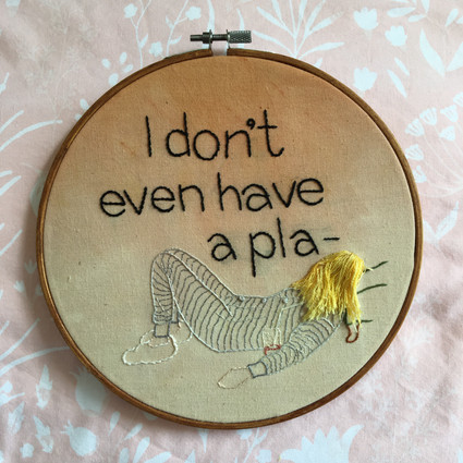 Friends quote embroidery