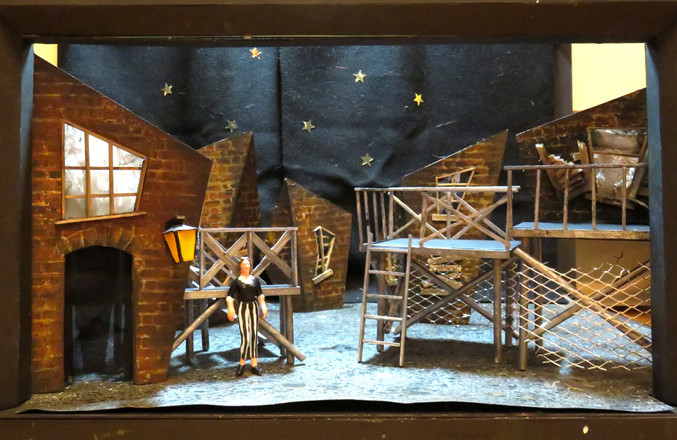 1:25 Scale Model of Set Design for The Threepenny Opera (2018)