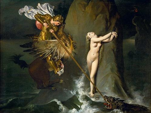 Энгр, Жан-Огюст-Доминик (1780 Монтобан -,30х40 см.