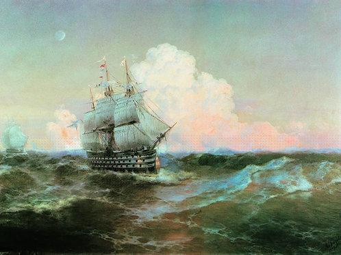 Корабль  Двенадцать апостолов .30х40 см.