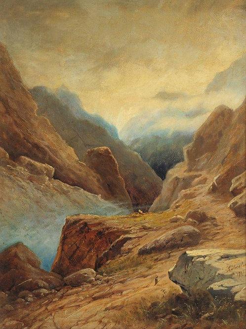 Дарьяльское ущелье. 1891, 30х40 см.