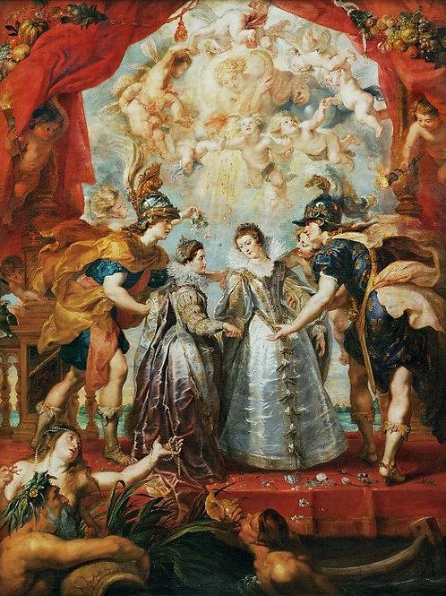 Рубенс, галерея Медичи, 1622-24 -- Обме ,30х40 см.