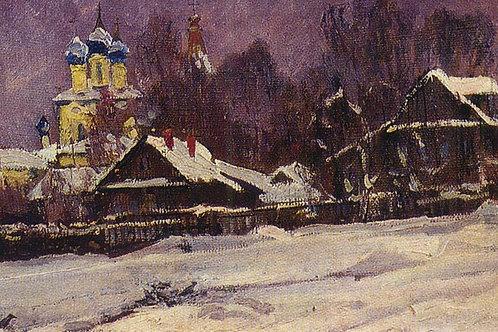 «Село Коломенское. Панорама. 1968 г» 30х40 см.