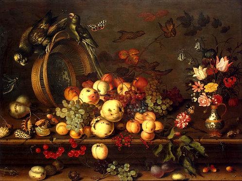 Аст, Натюрморт с фруктами, 30х40 см.