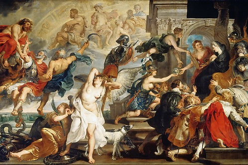 Рубенс, галерея Медичи, 1622-24 -- Смерт,30х40 см.