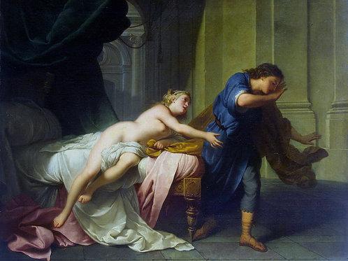 Натье, Жан-Батист - Иосиф и жена Потиф,  30х40 см.