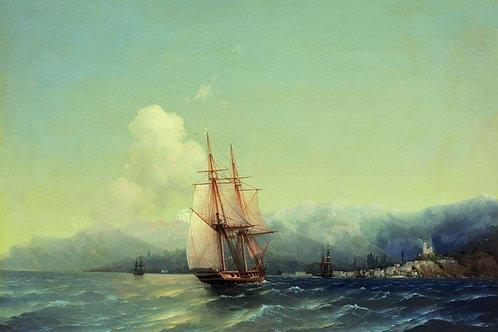 Крым. 1852,30х40 см.