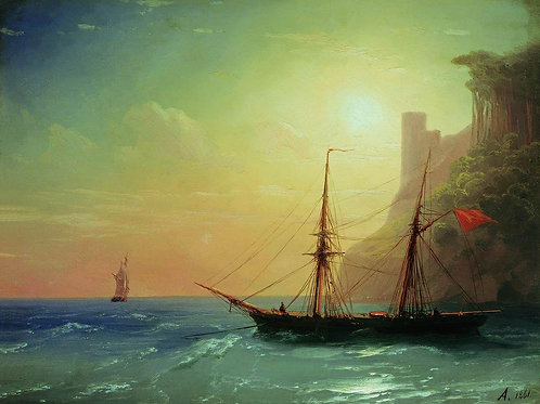 Берег моря. 1861 30Х40 см.