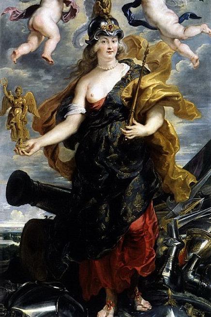 Рубенс, - Мария Медичи в образе Минервы, 30Х40см.