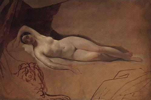 Спящая Юнона. 1840-е, 30х40 см.