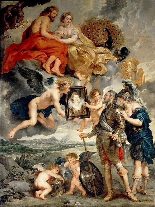 Рубенс, галерея Медичи, 1622-24 -- Предс,30х40 см.