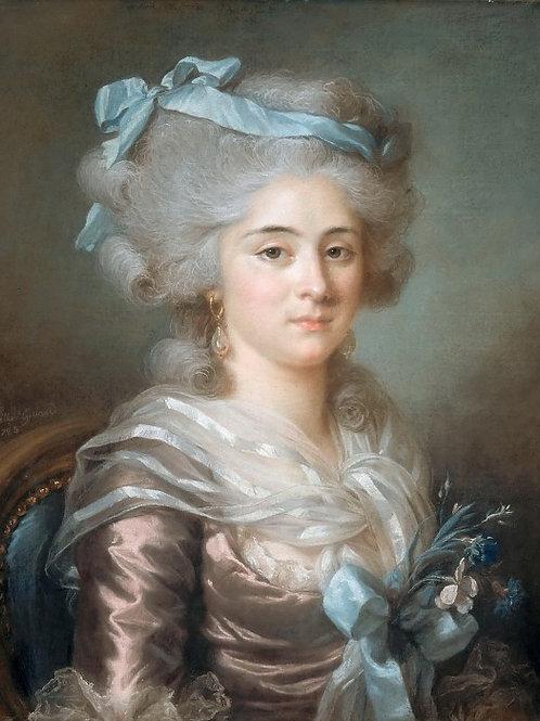 Лабий-Гийар,  Портрет мадам Клодион 30х40 см.