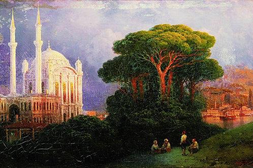 Вид Константинополя. 1851, 30х40 см.
