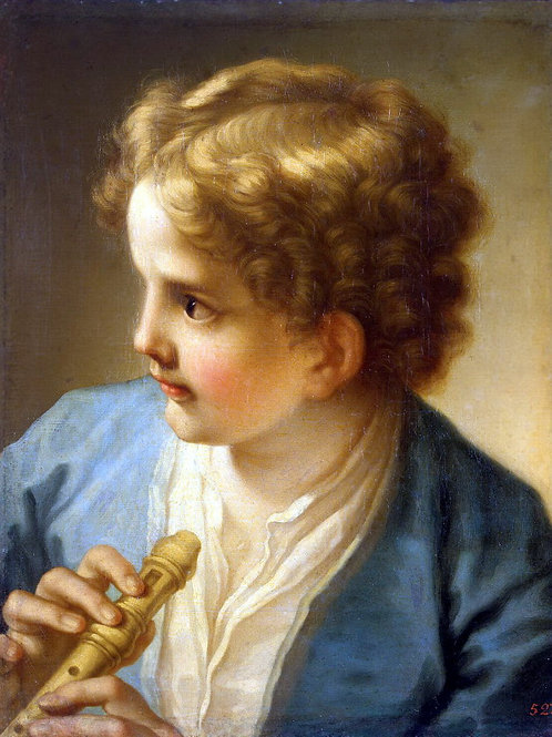 Лути, Бенедетто - Мальчик с флейтой,  30х40 см.