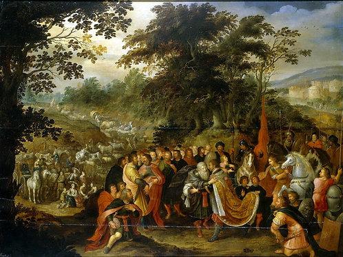 Встреча Исава и Иакова, 30х40 см.