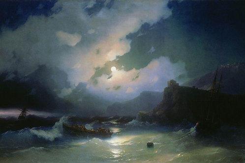 Остров Патмос. 1854, 30х40 см.