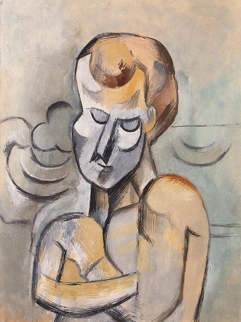 Пикассо, Пабло - Мужчина со скрещенными, 30х40 см.