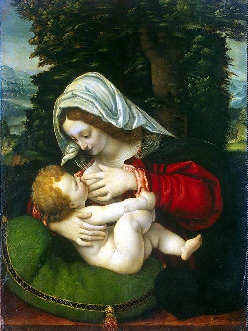 Мадонна с младенцем, 30х40 см.
