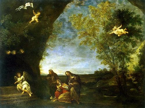 Альбани,  Святые жены у гроба Христа, 30х40 см.