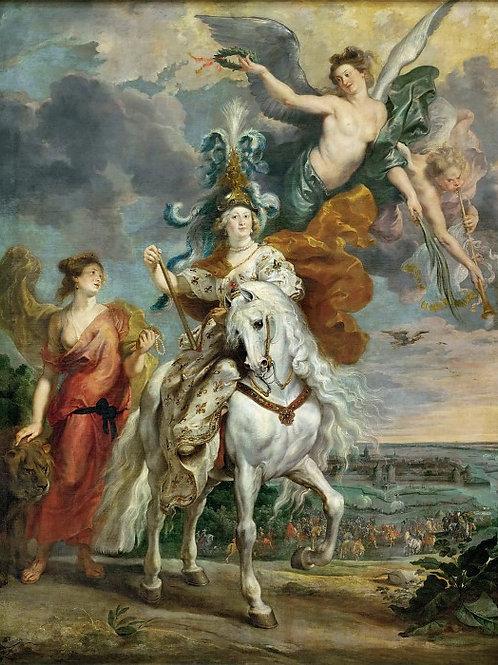 Рубенс, галерея Медичи, 1622-24 -- Взяти,30х40 см.