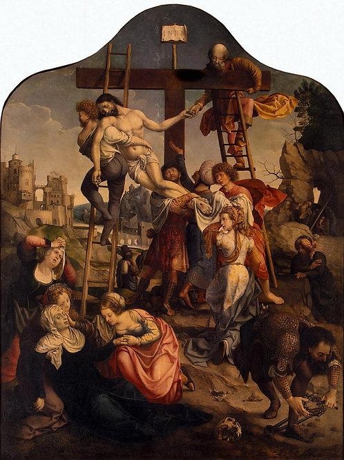 Госсарт, Ян - Снятие с креста, 30х40 см.