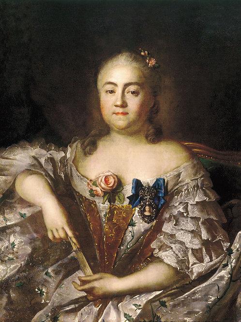 Портрет графини Варвары Алексеевны Шер.  30х40 см.