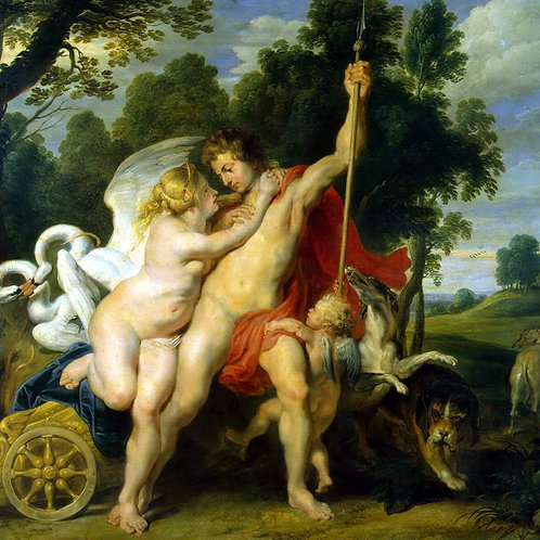 Рубенс, Питер Пауль - Венера и Адонис, 30х40 см.