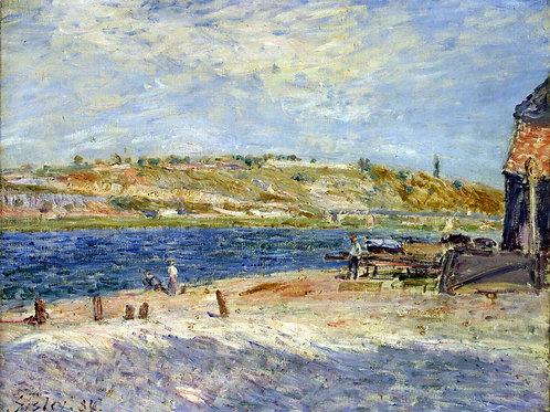 Сислей, Альфред - Берег реки в Сен-Мамм, 30х40 см.