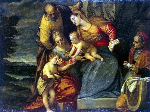 Калиари, Святое Семейство со святыми Ек, 30х40 см.