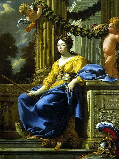 Вуэ, Аллегорический портрет Анны Австри, 30х40 см.