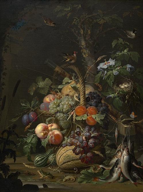 Миньон, Абрахам - Натюрморт с фруктами,, 30Х40см.