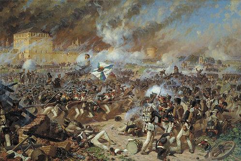 Сражение за Смоленск, 30х40 см.