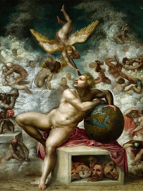 Микеланджело (последователь) - Мечты че, 30х40 см.