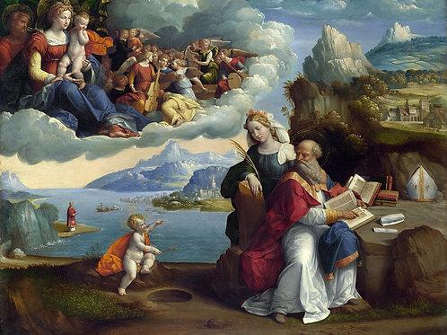 Гарофало - Видение святого Августина, 30х40 см.