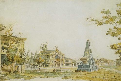 Площадь в Херсоне. 1796,  30х40 см.