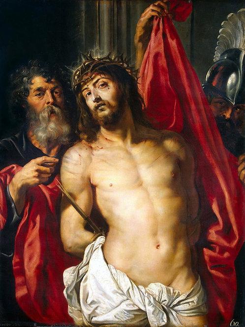 Рубенс, Питер Пауль - Христос в терново, 30х40 см.