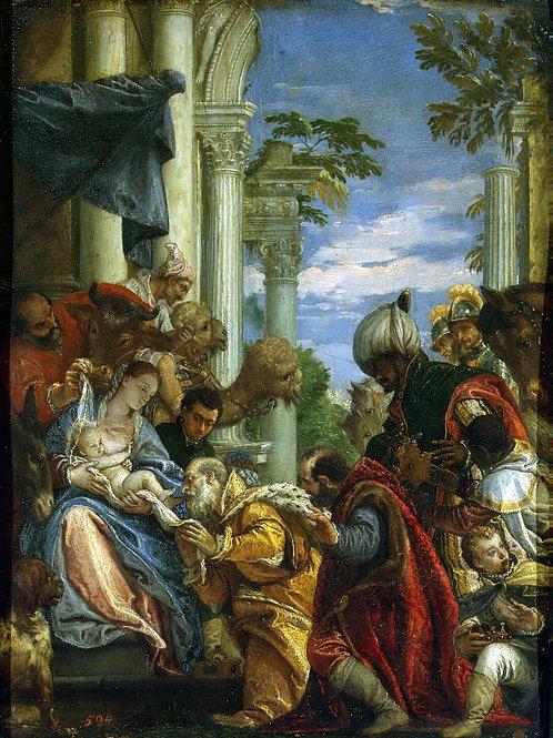 Веронезе, Поклонение волхвов, 30х40 см.