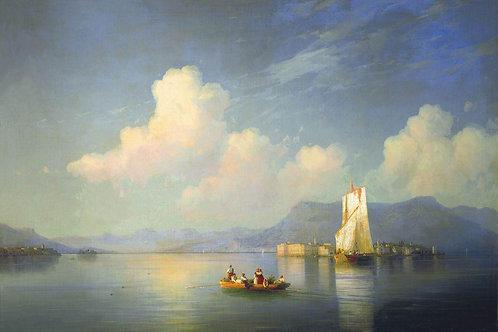 Итальянский пейзаж. Вечер. 1858 30х40 см.