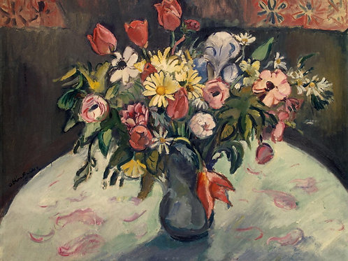 Фриез, Отон - Тюльпаны и маргаритки,  30х40 см.