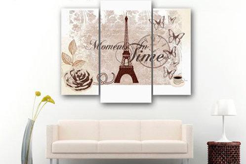 Париж винтаж, 100% натур. холст, подрамник.