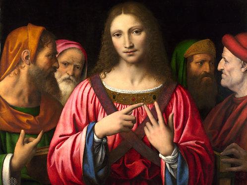 Бернардино Луини - Христос среди книжн , 30х40 см.
