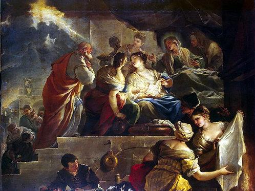 Джордано, Рождение Иоанна Крестителя, 30х40 см.