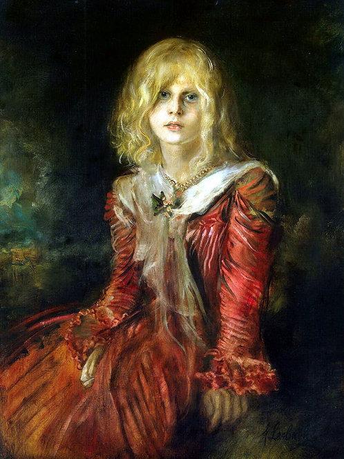 Ленбах, Франц фон - Портрет Марион Лен,  30х40 см.