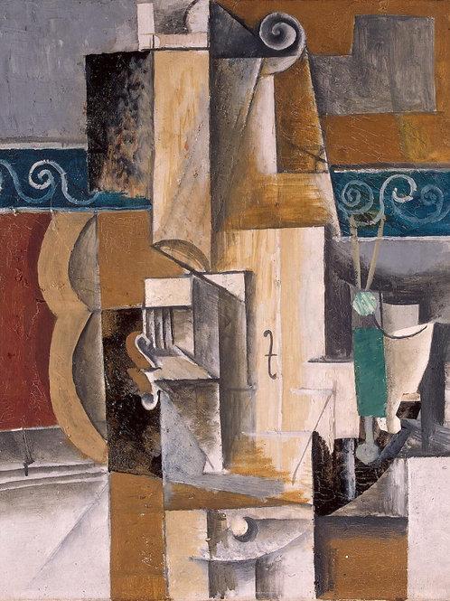 Пикассо, Пабло - Гитара и скрипка,30х40 см.